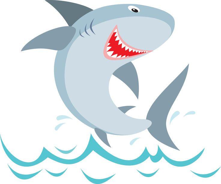 Shark Party Food Labels