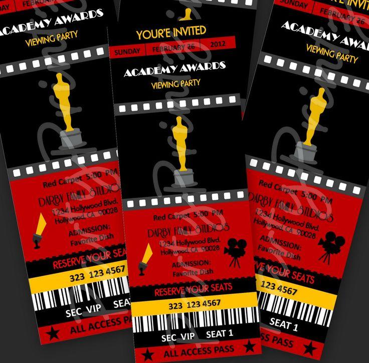 Printable Oscar Invitations