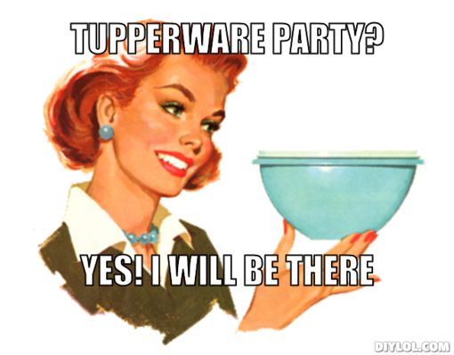 Keep Sell Calm And Tupperware