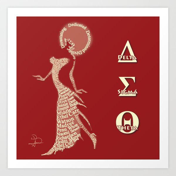 Delta Sigma Theta Symbols Pyramid