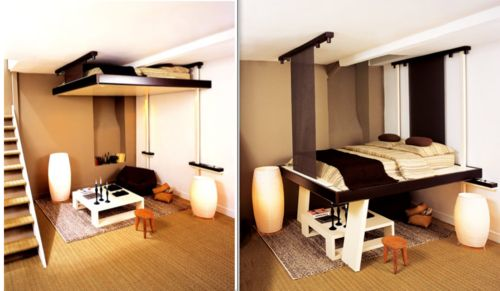 Compact Living Bed Solution Tiny House Ideas