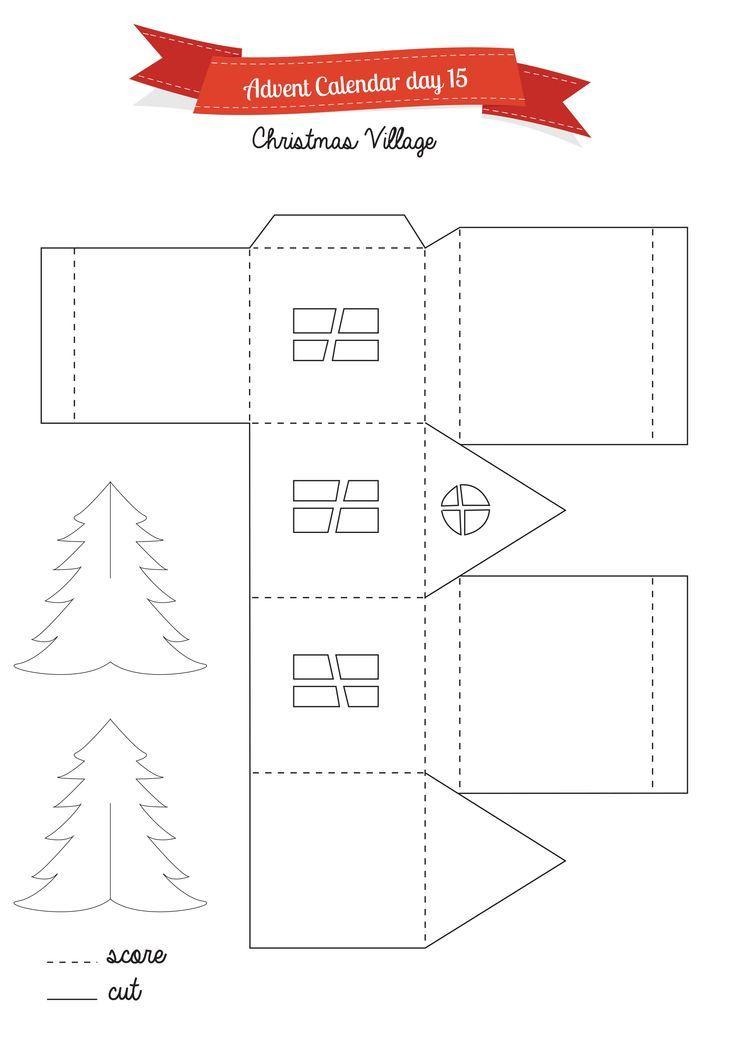 Printable Little Glitter Houses