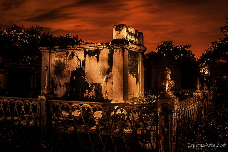 Lafayette Cemetery New Orleans Night