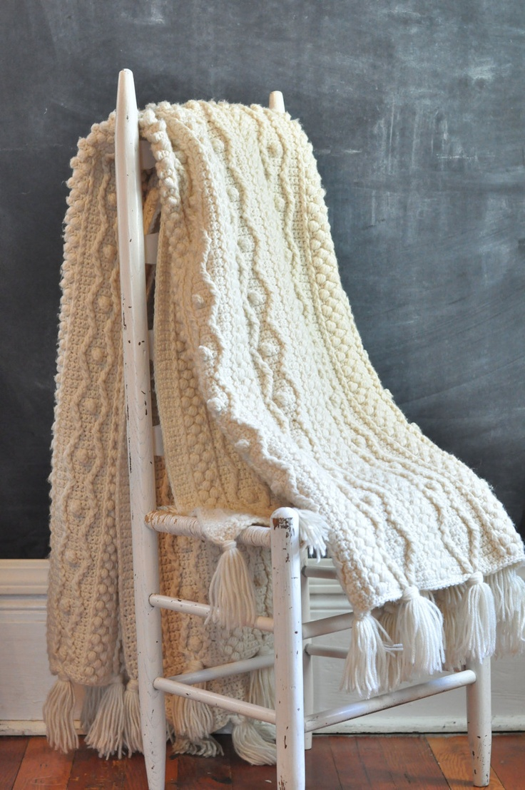 Crochet Cable Afghan Knit Pattern