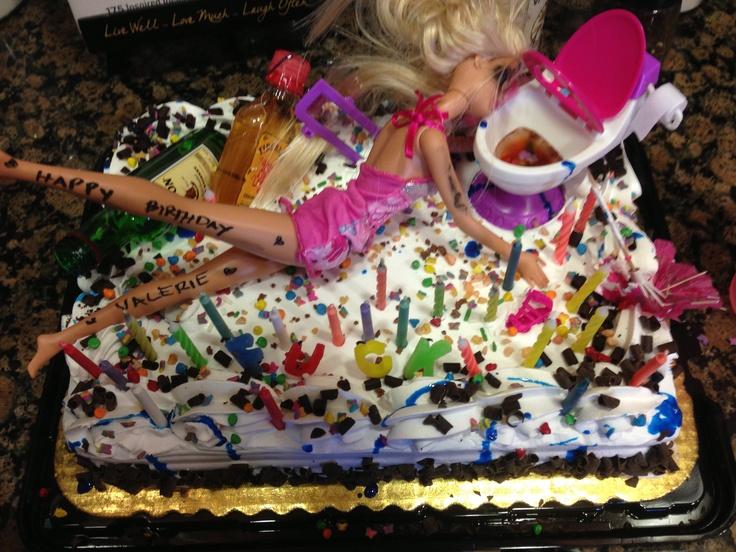 Drunk Barbie Cake My Style Pinterest Barbie Drunk