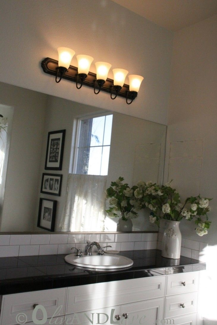 Painting Old Bathroom Light Fixtures
