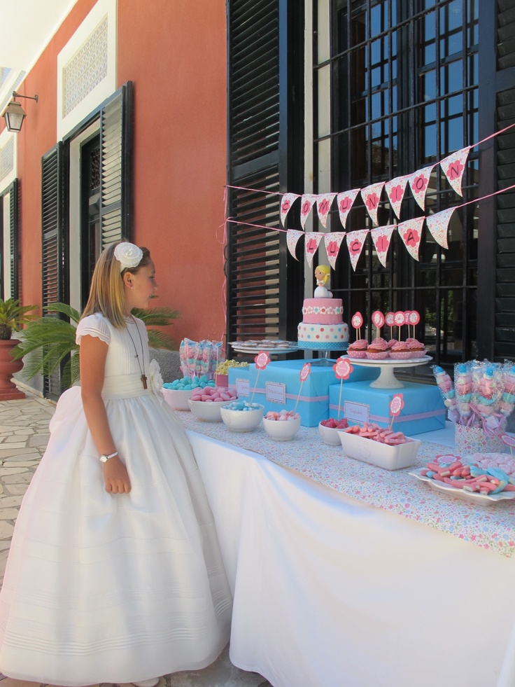 Communion Party Table For Girls I Love The Pink And