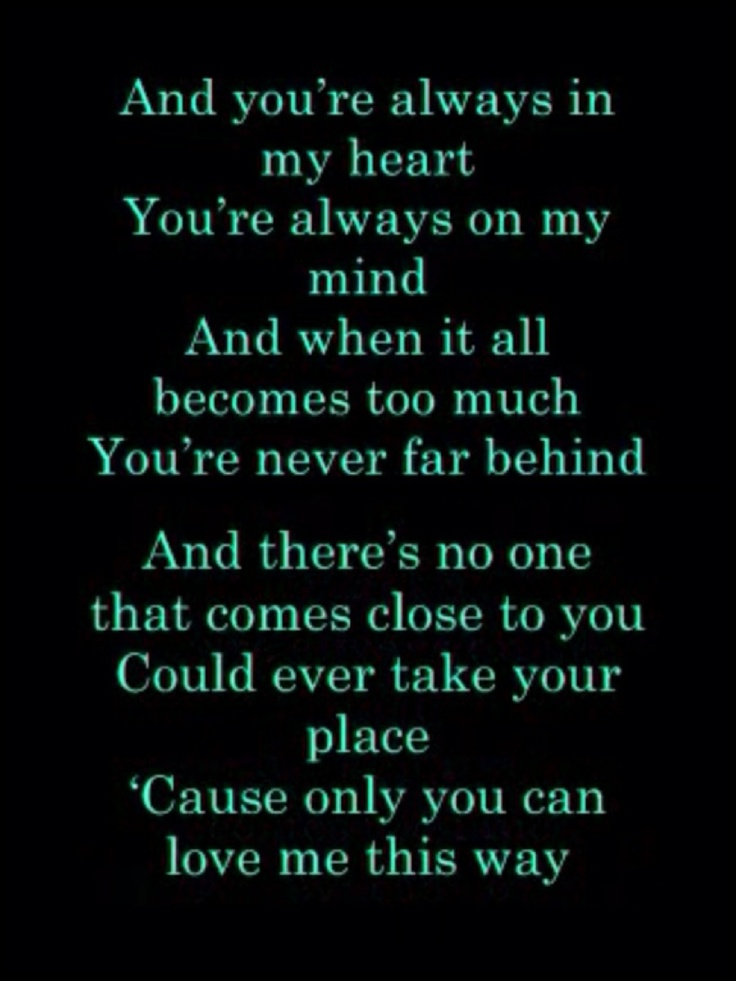 You Are My Only Love Lyrics