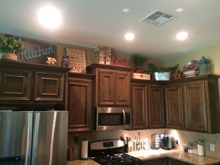 Above Kitchen Cabinets Decor Awesome Pinterest