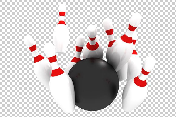 Bowling - 3D Render PNG | 3d, Graphics and Gold rings