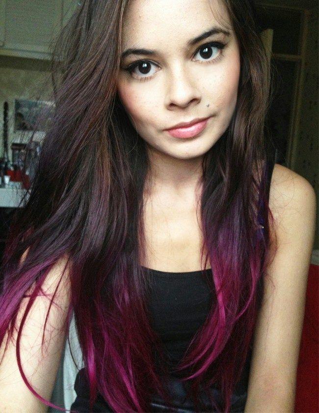 Kool Aid Dip Dye Brown Hair