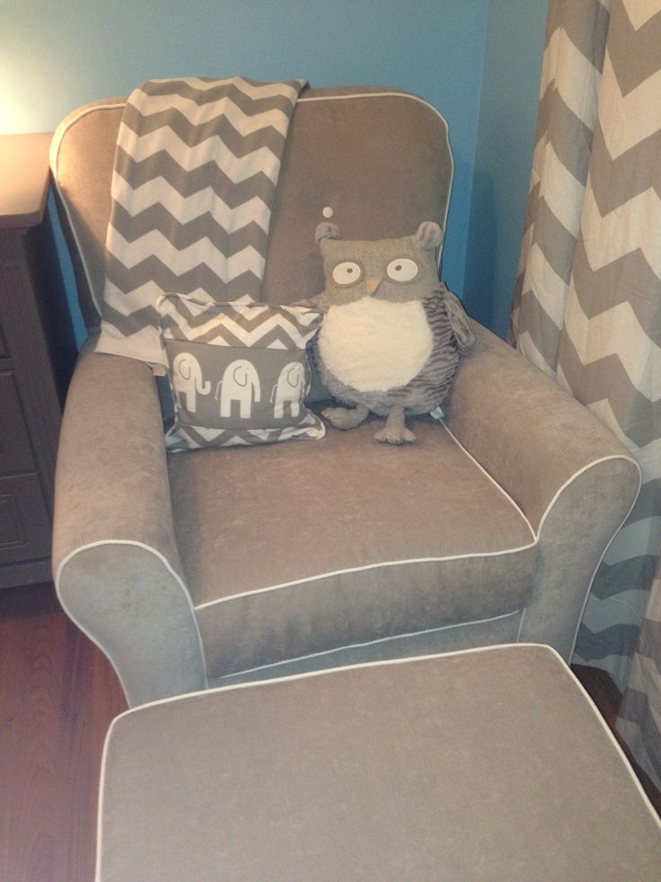 Small Gray Accent Chair