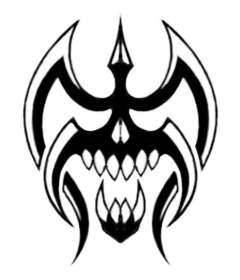 Dragon Drawing Skull Cool Tribal