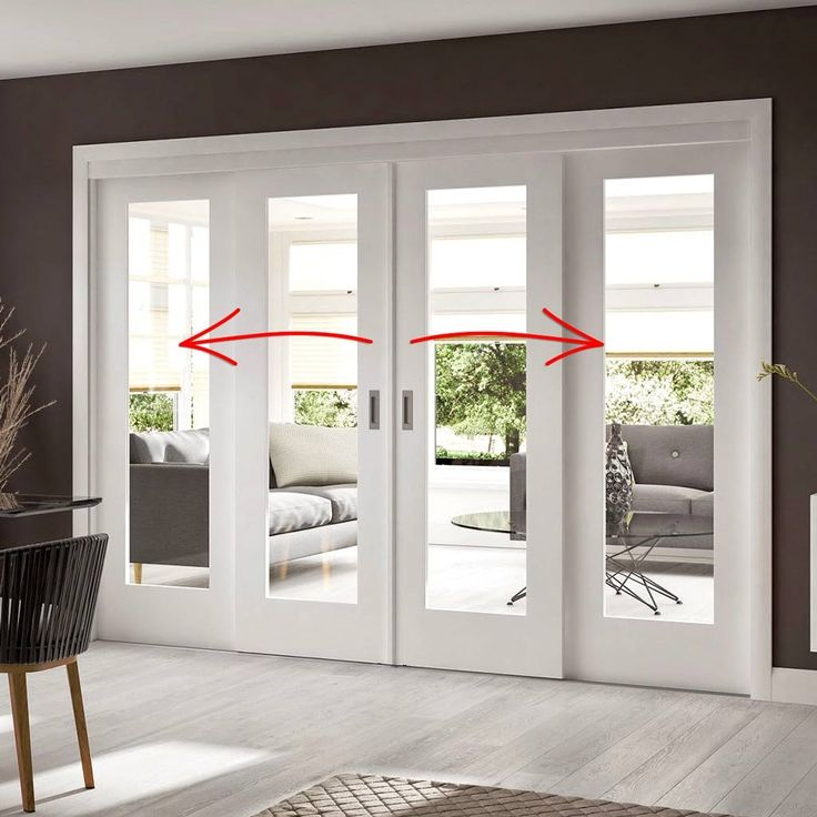 Easi Slide Op1 White Shaker 1 Pane Sliding Door System In