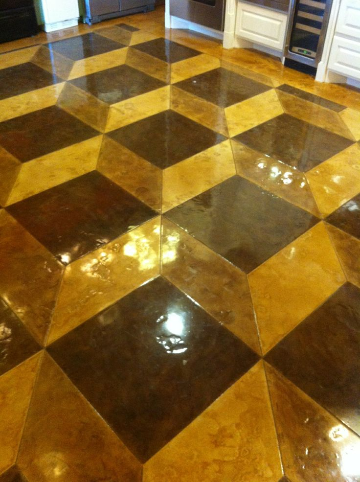 Stained Concrete Floor Colors