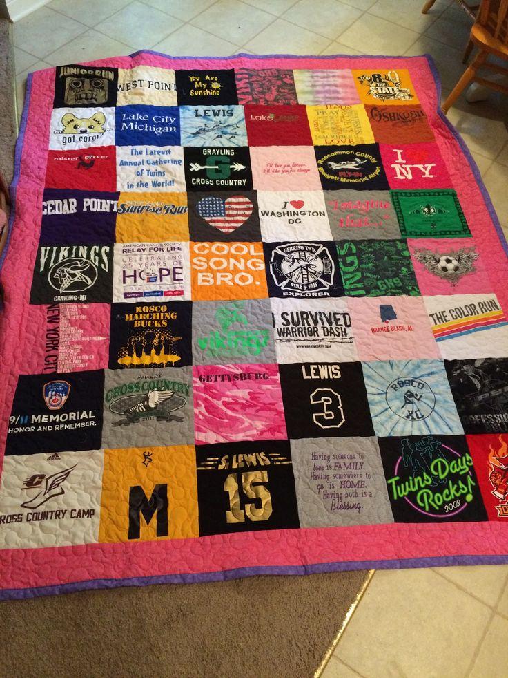 T Shirt Quilt Uneven Squares