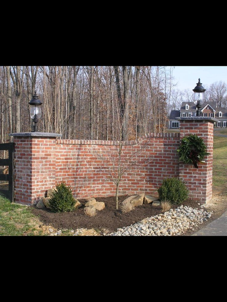 Brick Drive Entrances Gated Rock And