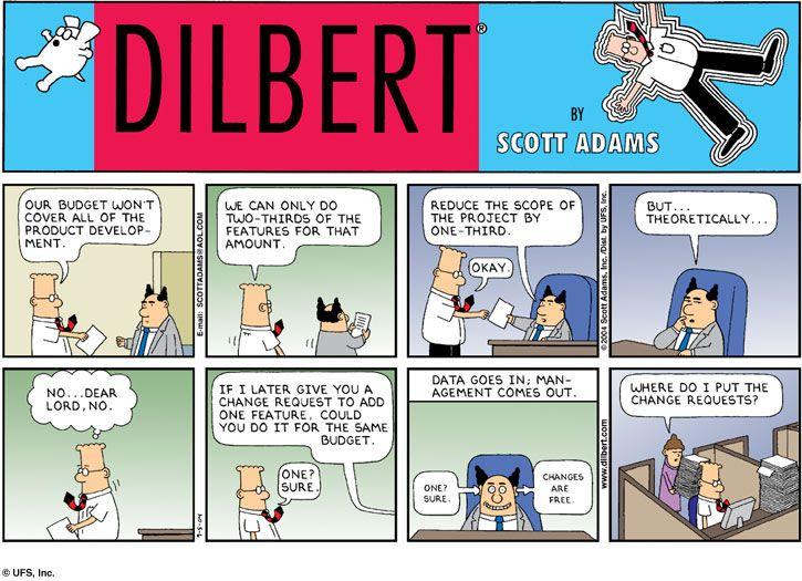 Project Dilbert Cartoons Management