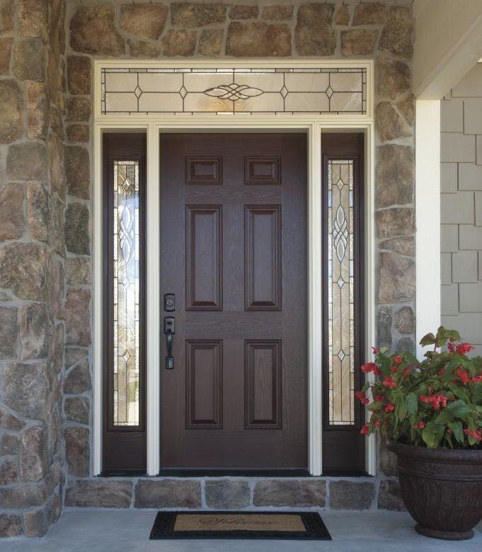 Versatile Durable Fiberglass Front Doors With Decorative