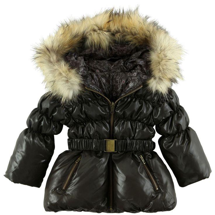Catimini Girls Winter Wool Coat Dress