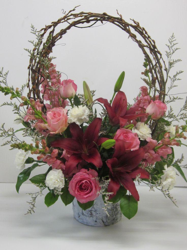 Burgundy Orchid Centerpieces