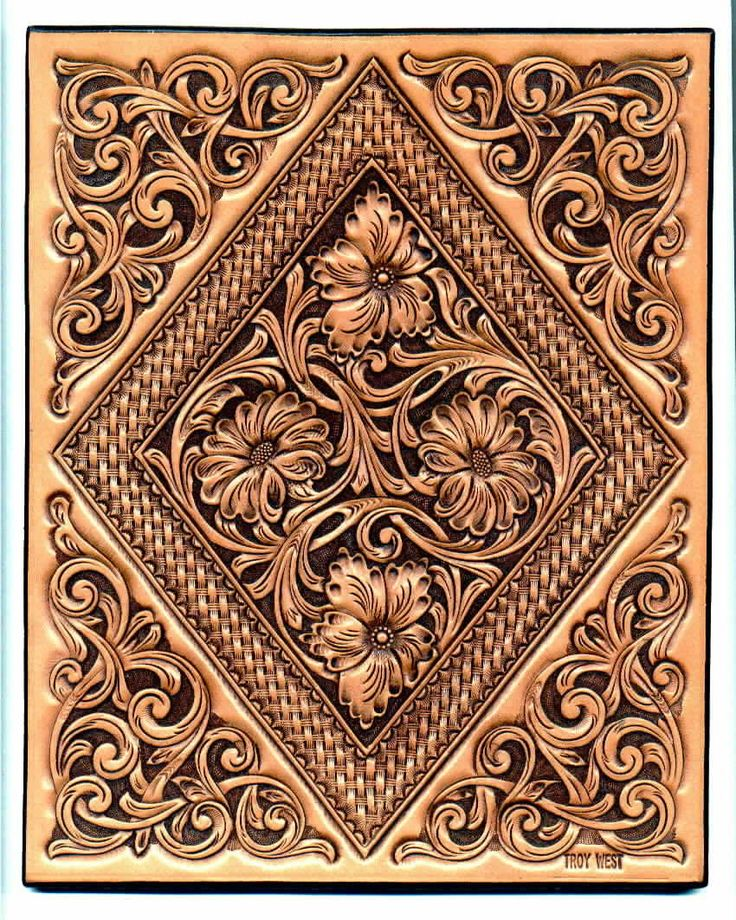 Printable Leather Tooling Patterns Rose