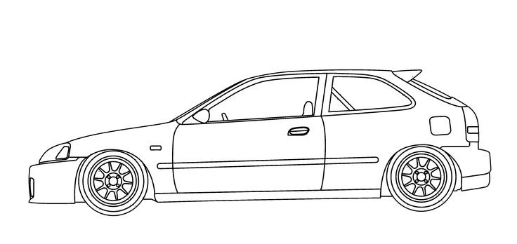 Jdm Hatchback Civic Honda Slammed