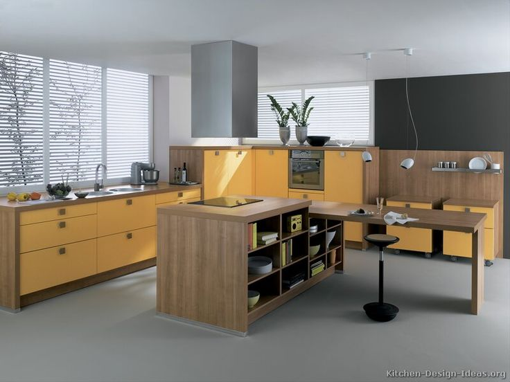 Contemporary Yellow Kitchen Ideas