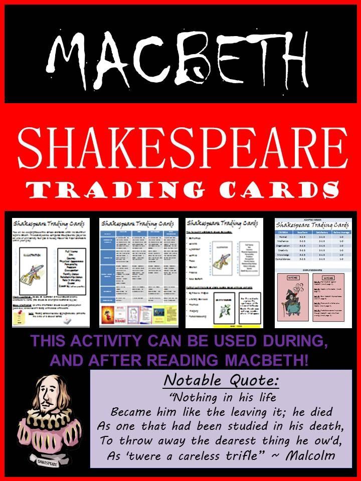 Fun Activities Macbeth