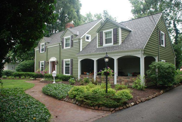 Homes Green Siding