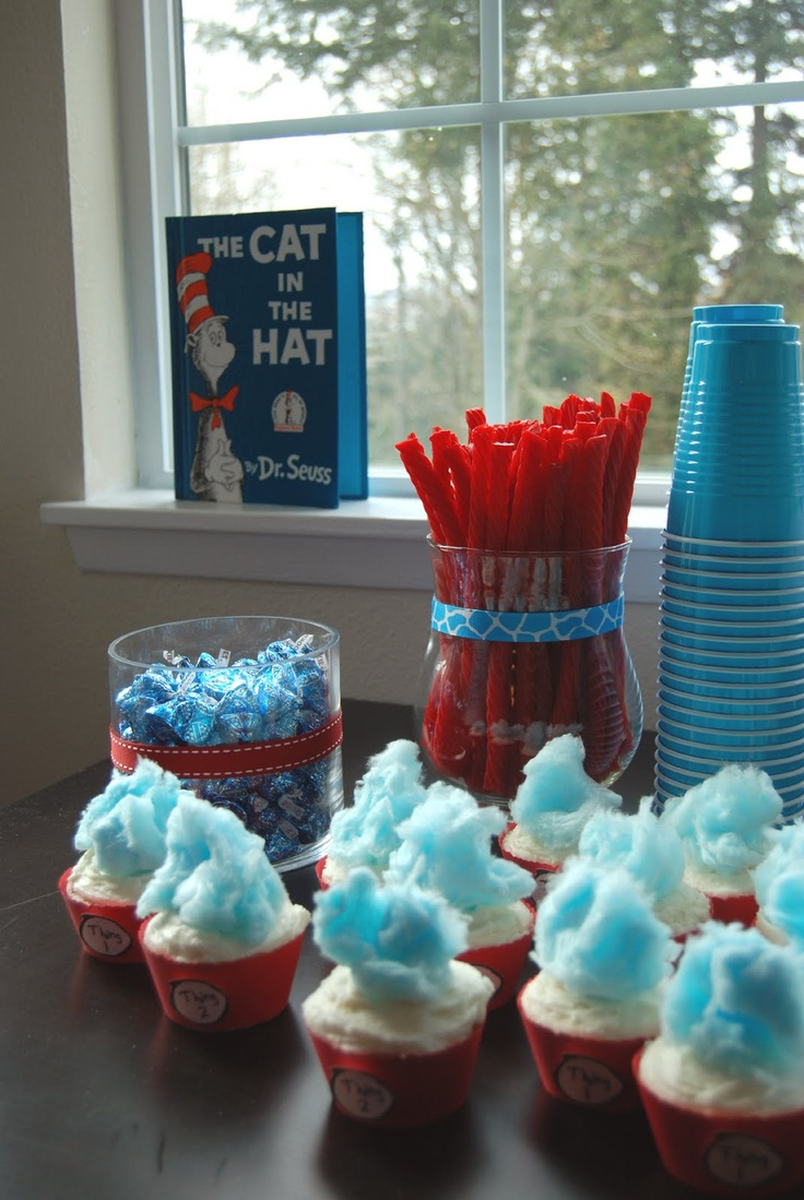 Cat Hat Baby Shower Table Decoration