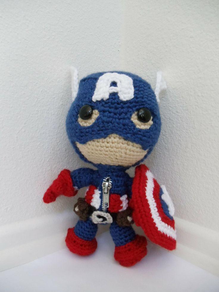 America Crochet Captain Doll Pattern