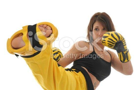 Girl Karate Kick Face