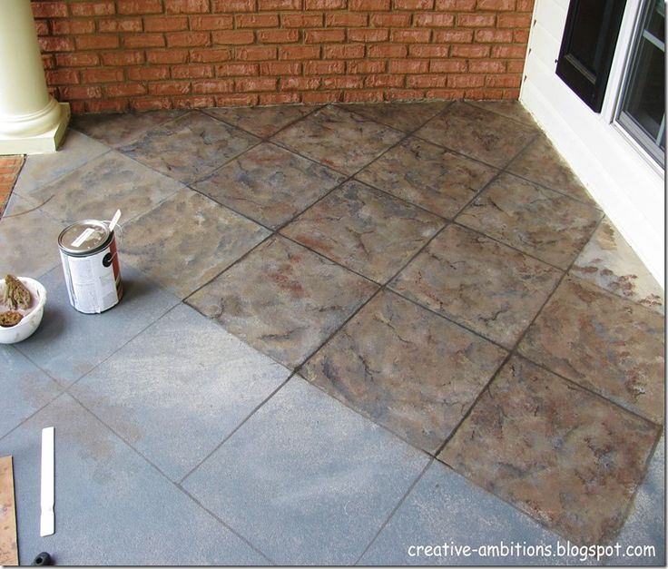 Tiling Front Porch