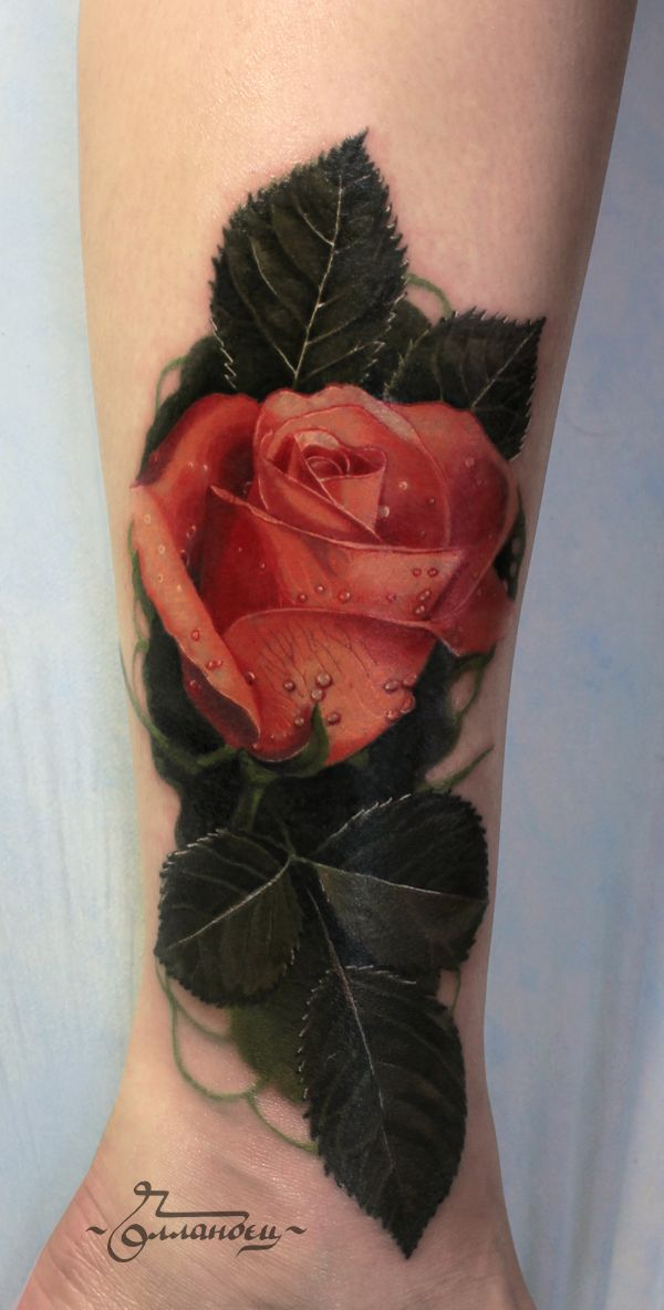 Realistic Rose tattoo- Never actually seen a tattoo rose ...