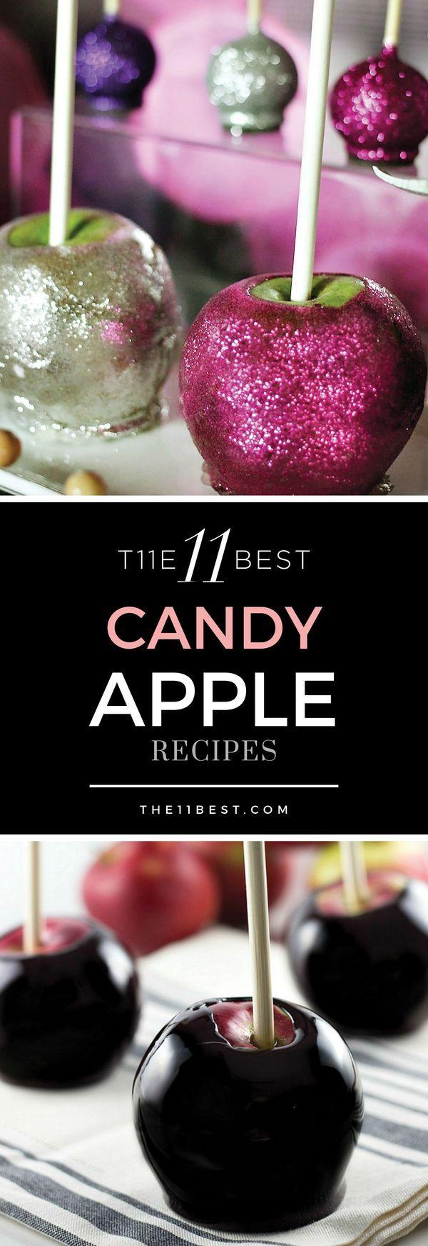 Edible Glitter Candy Apples Halloween