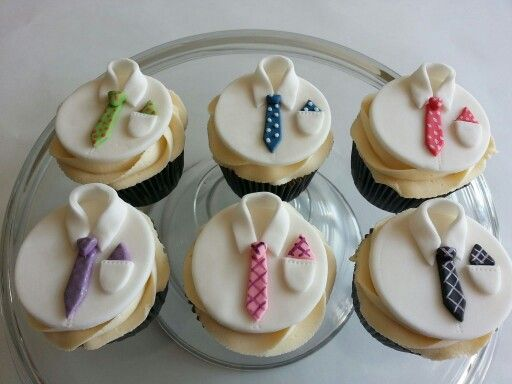 Mens Shirt And Tie Cupcakes Cakes By Me