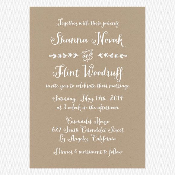 Along Their Parents Wedding Invitation Wording