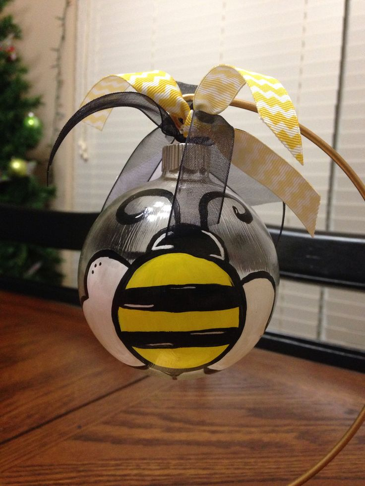 Glass Quot Bumble Bee Quot Ornament Diy Pssst Martha Who
