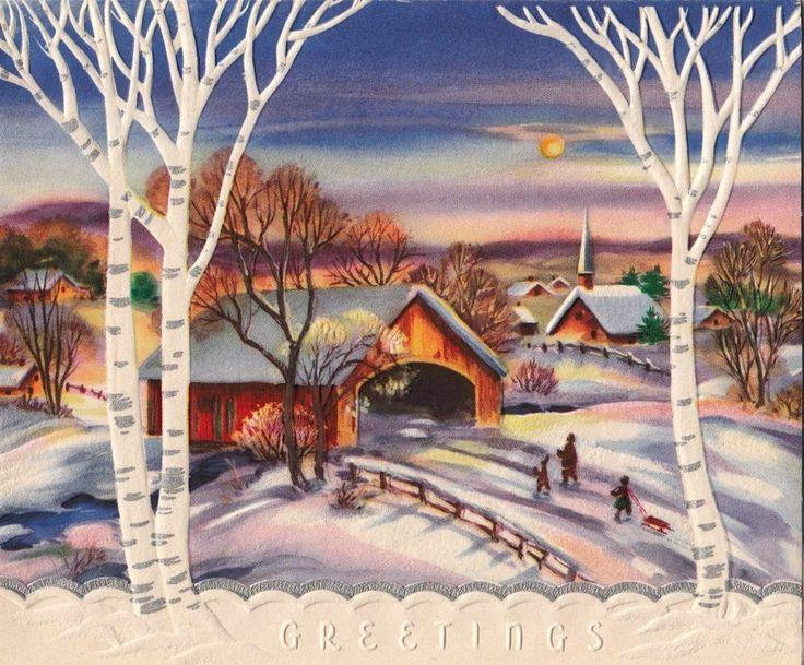 Country Cards Bridge Christmas