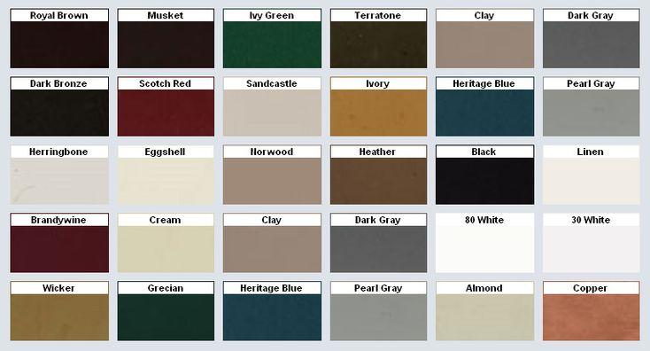 Variform Siding Color Chart