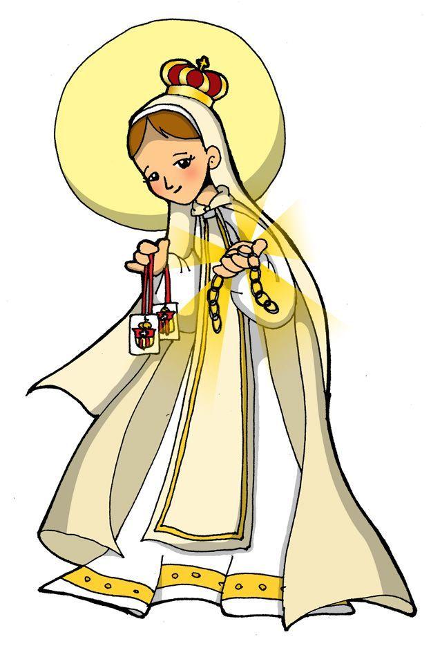 De Virgencita Guadalupe Cartoon