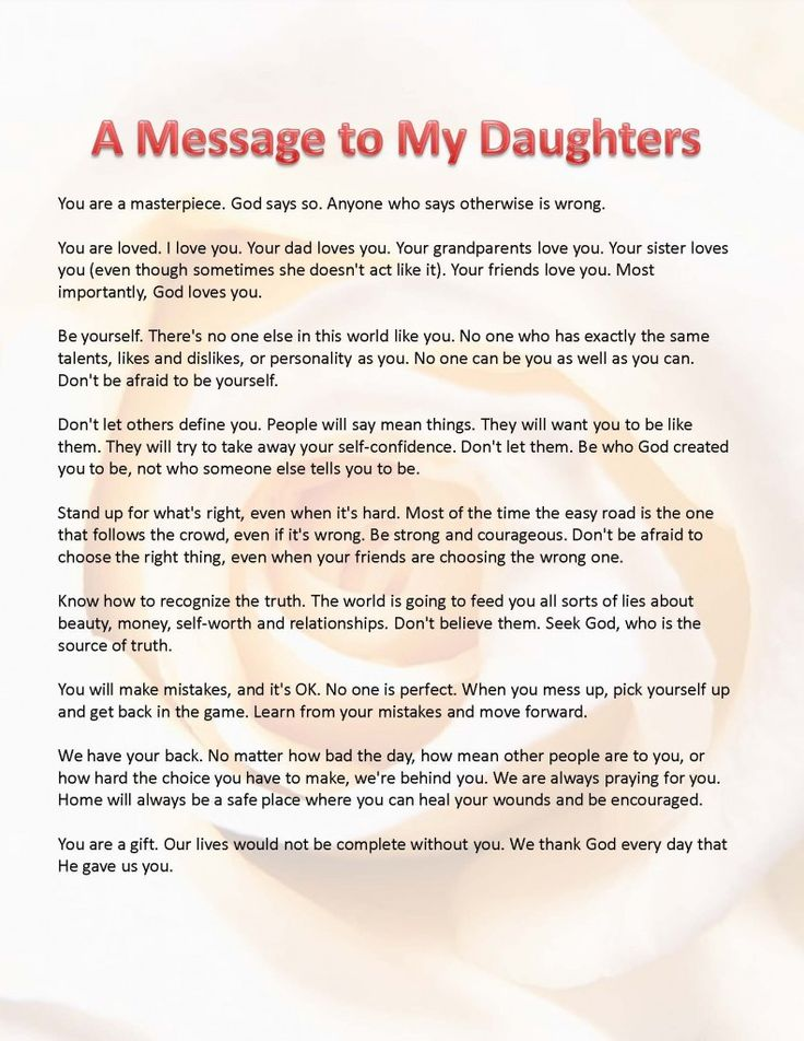 Words Graduating Daughter
