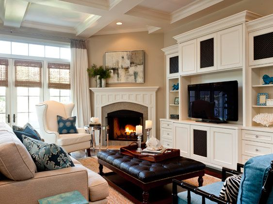 Corner Ideas Room Fireplace Living Arrangement