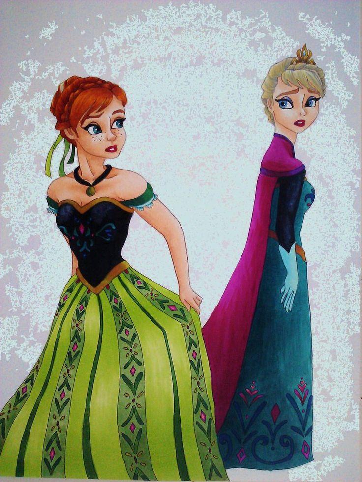 Disney Princesses Including Anna And Elsa
