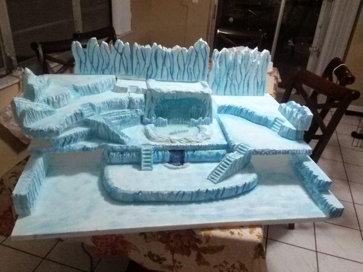 Styrofoam Christmas Villages Displays