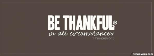 Give Thanks Grateful Heart Facebook Cover