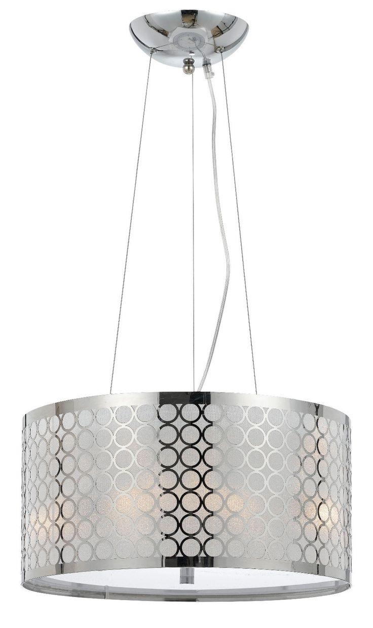 Fabric Shade Pendant Light Fixtures
