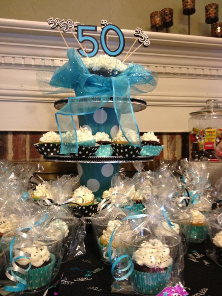 50th Birthday Cupcake Display Cupcakes Pinterest