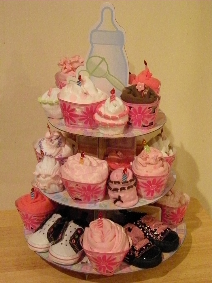 Baby Shower Cake Made Out Cupcakes